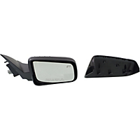 Kool Vue Mirror FD110ER Passenger Side 2 Caps - Paintable & Textured Black